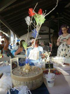 Table center piece for beach wedding