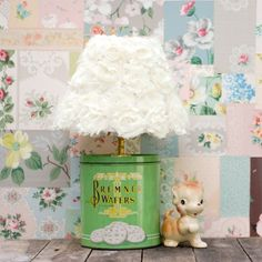 Make a fun lamp out of an old vintage cookie tin in under an hour.