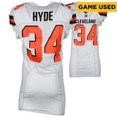 9f47fe4452c4 Duke Johnson Jr. Cleveland Browns Game-Used  29 White Jersey vs. Houston  Texans on December 2