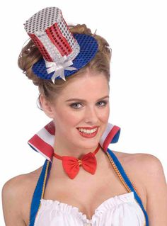 Mini Uncle Sam Costume Top Hat $4.74 #Patriotic #Accessories http://www.costumeshopper.com/prods/fm68736.html