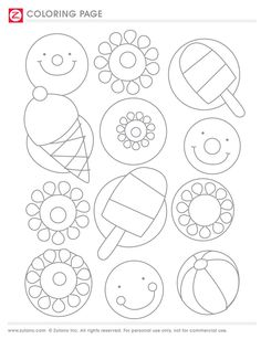 printable popsicle coloring pages - Printable Popsicle Coloring Pages