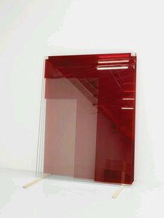 Armando Andrade Tudela   Untitled (4 Glass Panes – Red), 2010