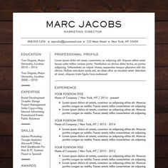 1000 ideas about professional resume format on pinterest