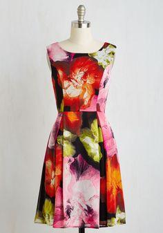 Girl's Best Frond Dress in Glowing Flowers