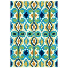 Found it at Joss & Main - Avery Indoor/Outdoor Rug in Ivory & Blue