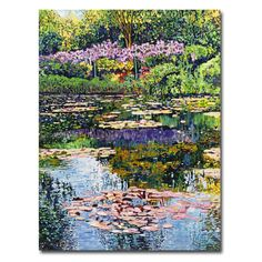 Found it at Wayfair - 'Giverny Reflections' by David Lloyd Glover Painting Print on Canvas