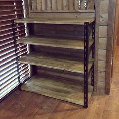 My Shelf/DIY/BRIWAX ジャコビアン/カラーアングル/RC秋田支部のインテリア実例 - 2016-06-26 01:40:24 | RoomClip (ルームクリップ) Repurposed Furniture, Wood Furniture, Kitchen Work Station, Diy Pins, Carpentry, Dyi, Bookcase, Shelves, Cool Stuff