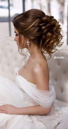 Elstile wedding hairstyles for long hair 3 - Deer Pearl Flowers / www.deerpearlflow... http://buff.ly/2fQsZqkh