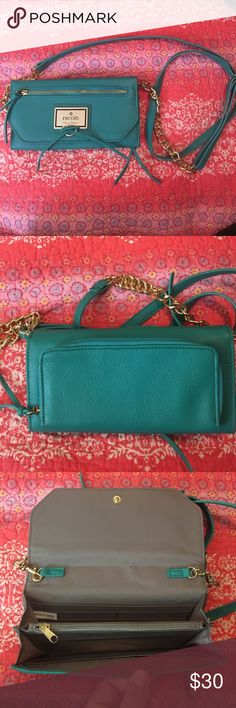 *never used* over the shoulder purse *never used* over the shoulder purse great for going out! Perfect color for the summer time Nicole Miller Bags Crossbody Bags
