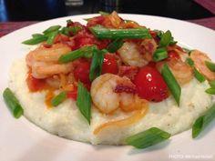 Spicy Shrimp & Grits by Michael Nolan Shrimp Grits, Spicy Shrimp, Southern Recipes, Seafood Recipes, Meals, Ethnic Recipes, Life, Meal, Ocean Perch Recipes