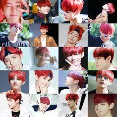 #BTS #Bangtan V red hair