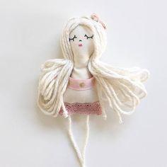 Tiny doll handmade doll mini doll miniature doll blonde doll