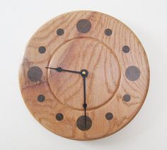 Rustic Oak Wall Clock by DebsWoodshop on Etsy, $115.00