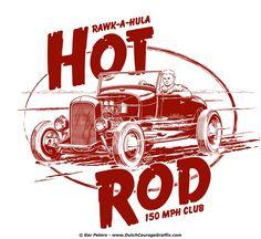 1929 Ford Model A roadster hot rod T-shirt design #hotrod #hot #rod #Ford #modelA #roadster #vintage #artwork #Tshirt #design