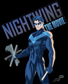 Nightwing, Dick Grayson illustrator digital art