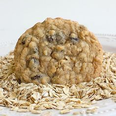 Chewy Oatmeal Raisin Cookies - Very tasty! I used kosher salt which gave every bite a little saltiness along with the sweetness.  I flattened each cookie once it was on the tray before it went in the oven because it does not flatten on its own during the cooking process. The cookie was chewy - not crunchy.