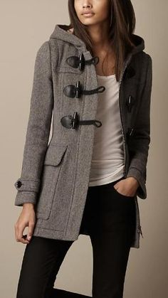 Wool Fitted Duffle Coat, Burberry. by christy