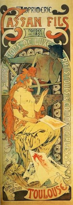 Cassan Fils, Alphonse Mucha.  Research for possible future project.