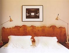 """Just this headboard.  With the addition of small bits of gold leaf in the """"live edge""""."""
