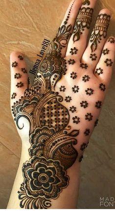 Cute Henna Designs, Indian Henna Designs, Henna Designs Feet, Mehndi Designs For Girls, Stylish Mehndi Designs, Wedding Mehndi Designs, Mehndi Art Designs, Latest Mehndi Designs, Mehndi Patterns