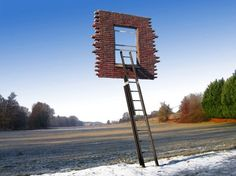 "Leandro Elrich, ""Window and Ladder"""