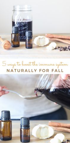 Top ways to boost the immune system naturally to stay well. Learn how to make elderberry syrup, natures best antibiotics, and how to make your own hand sanitizer. Preventing can be the best way at staying healthy! #boosttheimmunesystem #immunesystem #naturalremedies #essentialoils #elderberrysyrup
