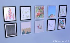 わたしむ - ✧ฺWata Sim wall art set 4✧  wallart(base game...