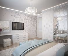 Image may contain: bedroom and indoor Simple Bedroom Design, Luxury Bedroom Design, Bedroom Bed Design, Home Bedroom, Modern Bedroom, Master Bedroom, Bedroom Decor, Baby Bedroom, Attic Bedroom Small