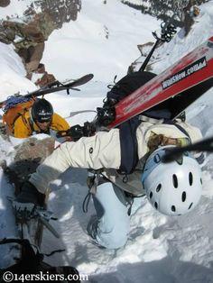 Climbing to ski North Maroon.