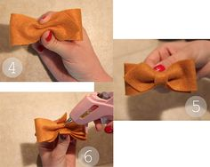 Little Birdie Secrets: no-sew pointed bow tie {tutorial}