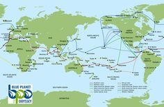 Sail routes for around the world