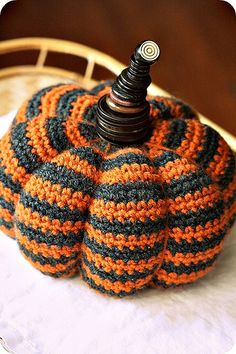 Crocheted pumpkin - if I ever get good enough at crocheting