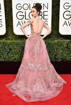 Lili Collins - Golden Globes 2017