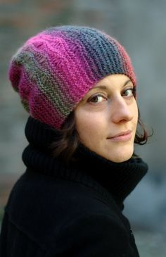 Marina slouchy beanie Hat PDF knitting pattern (instructions) by WoollyWormheadHats on Etsy