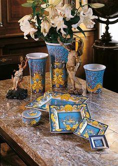 Versace Trésor de la Mer Dish - Home Collection Versace Casa, Versace Mansion, Versace Home, Gianni Versace, Table Design, Plate Design, Boho Decor, Art Decor, Decoration