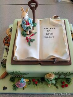Peter Rabbit Cake - http://www.cakebysadiesmith.co.uk/celebration-cakes/peter-rabbit-cake/