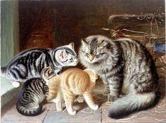 Chats et chiens art classique