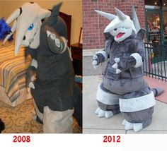 Aggron:+then+and+now+by+ShaggyGriffon.deviantart.com+on+@deviantART