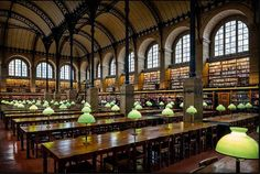 Библиотека Св. Женивьевы (интерьер), арх. А. Лабруст, Париж, 1858-68