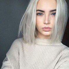 beautiful, face, fashion, girl, girls, girly, grey, hair, hipster, makeup, short hair, style, white