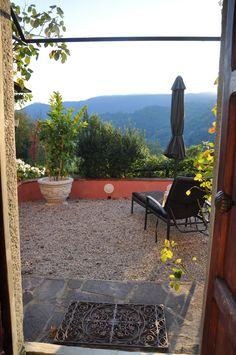Ausblick von Terrasse Patio, Outdoor Decor, Home Decor, Terrace, Rural House, Nice Asses, Homemade Home Decor, Yard, Decoration Home