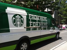 All aboard the Starbucks truck