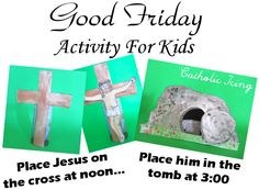 Good friday activity for kids. good friday activity for kids good friday cr Holy Week Activities, Easter Activities, Activities For Kids, Crafts For Kids, Bible Activities, Easter Crafts, Catholic Crafts, Catholic Kids, Good Friday Crafts