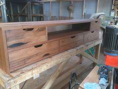 Bespoke recycled timber TV stand #bomboracustomfurniture #bespokefurniture