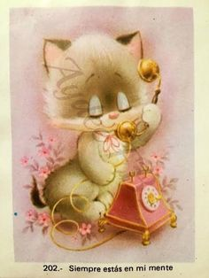 Vintage Cat, Coloring For Kids, Retro, Cats And Kittens, Cute Pictures, Cool Art, Crafts For Kids, Gift Wrapping, Teddy Bear