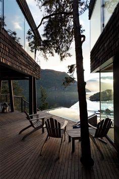 Sommerhus i Storfjord Exterior Design, Interior And Exterior, Diy Hacks, Interior Design Inspiration, Outdoor Furniture, Outdoor Decor, Hammock, Norway, Sweet Home