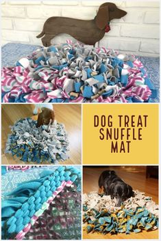 This week just FLEW by, but we're ready to roll up our sleeves for another fun Friday craft… Today we're makin' a DIY Dog Treat Snuffle Mat. Your dog will love the challenge to the very last bite! Dog Treat Toys, Diy Dog Toys, Diy Dog Treats, Pet Toys, Homemade Dog Toys, Dog Enrichment, Dog Puzzles, Dog Area, Puppy Play