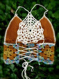 Crochet festival top - back..Inspiration