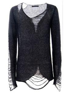 Urban Gardening : Distressed sweater. #fashion #diy