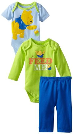 Amazon.com: Disney Baby Baby-Boys Newborn 2 Piece Winne the Pooh Boysuit with Pant Set, Green/Blue, 3-6 Months: Clothing